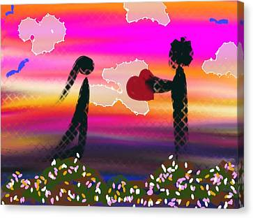 First Love Canvas Print by Lady Ex