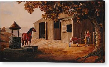 First Meeting Canvas Print by Duane R Probus