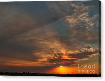 First Montana Sunset Canvas Print by Charles Kozierok