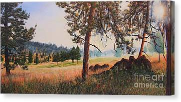First Nation Meadow Canvas Print by Jeanette French