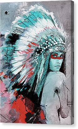 First Nations 005 C Canvas Print by Corporate Art Task Force