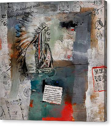 First Nations 12 Canvas Print by Corporate Art Task Force
