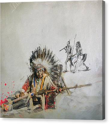 First Nations 16 Canvas Print by Corporate Art Task Force