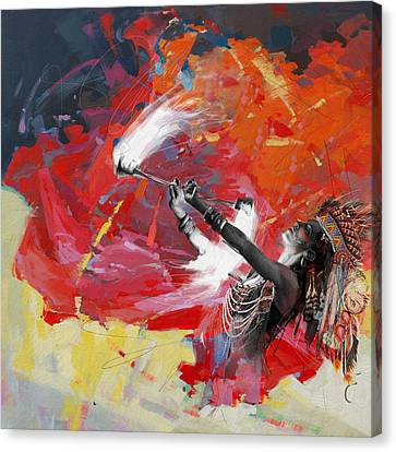 First Nations 18 Canvas Print by Corporate Art Task Force
