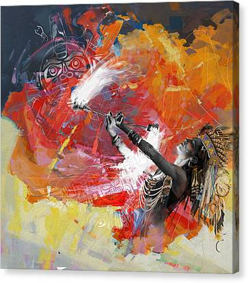 Indigenous Canvas Print - First Nations 18b by Corporate Art Task Force