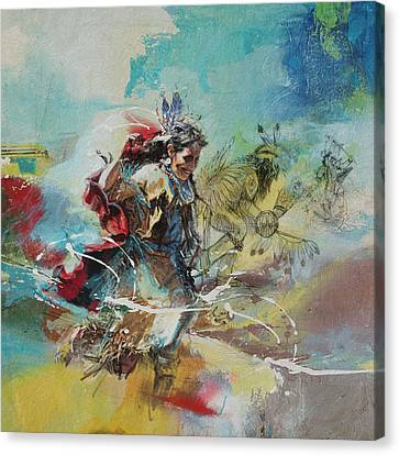First Nations 20 Canvas Print by Corporate Art Task Force