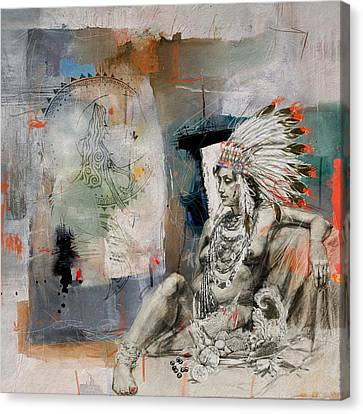 First Nations 21 Canvas Print by Corporate Art Task Force
