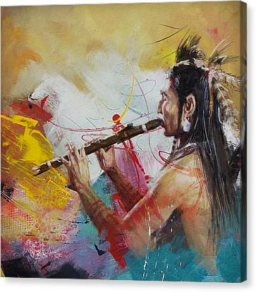 First Nations 22 Canvas Print by Corporate Art Task Force
