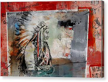 First Nations 28 Canvas Print by Corporate Art Task Force