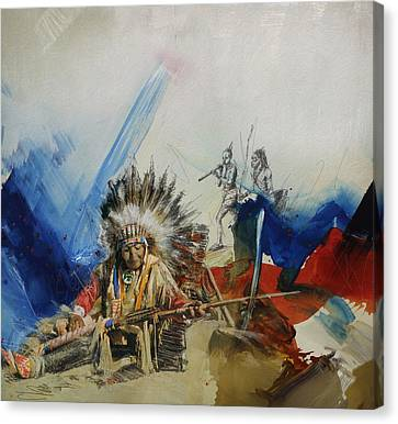 First Nations 30 Canvas Print by Corporate Art Task Force