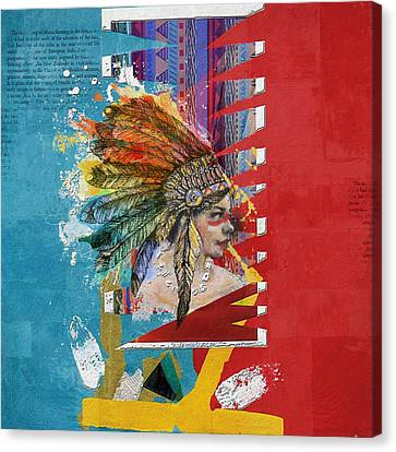 First Nations 31 Canvas Print by Corporate Art Task Force