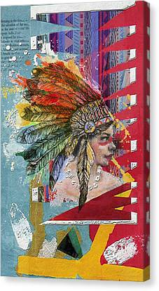 First Nations 32 B Canvas Print by Corporate Art Task Force