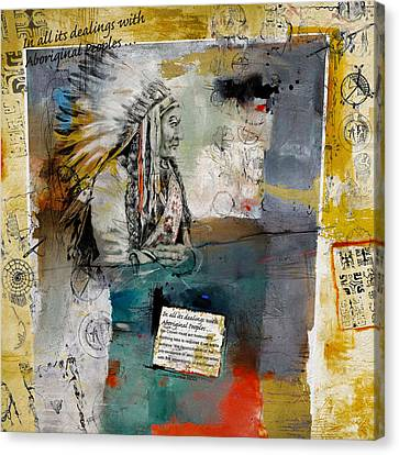 First Nations 34 Canvas Print by Corporate Art Task Force