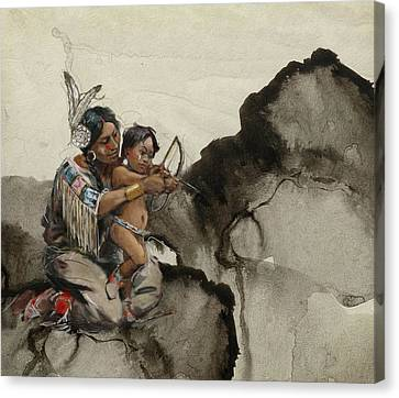 Indigenous Canvas Print - First Nations 38 by Corporate Art Task Force