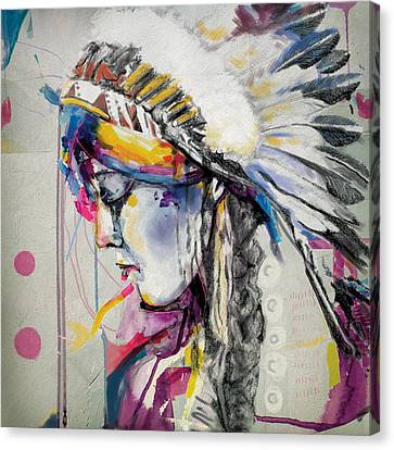 Indigenous Canvas Print - First Nations 7 by Corporate Art Task Force