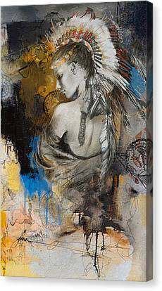 Indigenous Canvas Print - First Nations 8b by Corporate Art Task Force