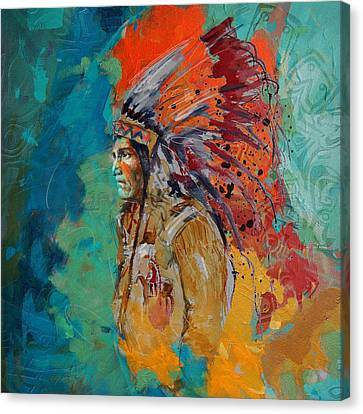 First Nations 9 Canvas Print by Corporate Art Task Force