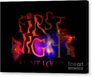 First Night Sign 2 Canvas Print