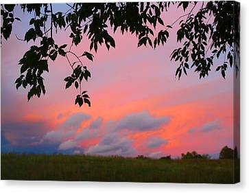 Canvas Print featuring the photograph First October Sunset by Kathryn Meyer