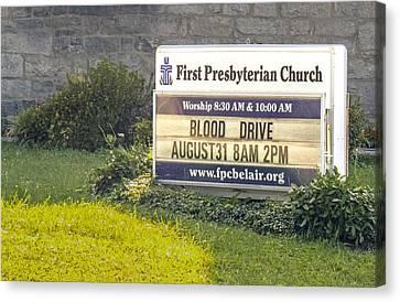 First Presbyterian Church Canvas Print