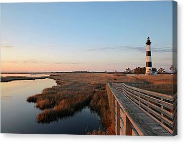 First Rays On Bodie Island Canvas Print