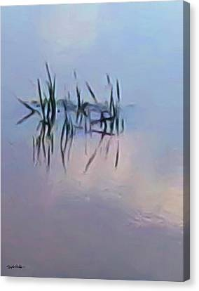 First Reeds Of Spring Canvas Print by Spyder Webb