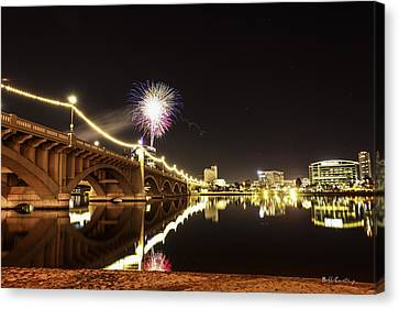 First Shot Of The Year Canvas Print by Bill Cantey