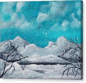First Snow Canvas Print by Anastasiya Malakhova