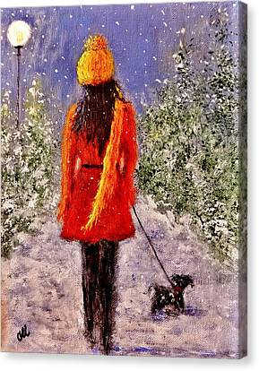 First Snow.. Canvas Print by Cristina Mihailescu