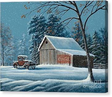 First Snow Canvas Print by Gary Adams