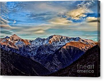 First Snow In The Mountains Canvas Print by Alexandra Jordankova