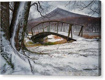 First Snow Of The Season Canvas Print by Steve Hurt