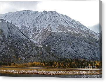 First Snow Canvas Print by Rick  Monyahan