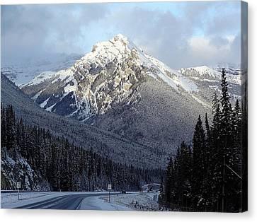 First Snowfall Canvas Print by George Cousins