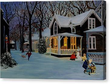 First Snowfall Canvas Print by Rick Fitzsimons