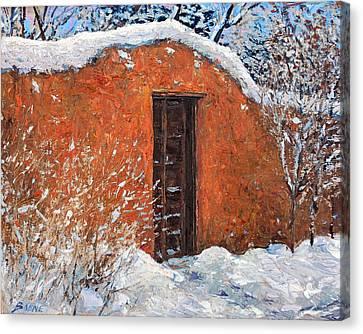 First Snowfall Canvas Print by Steven Boone