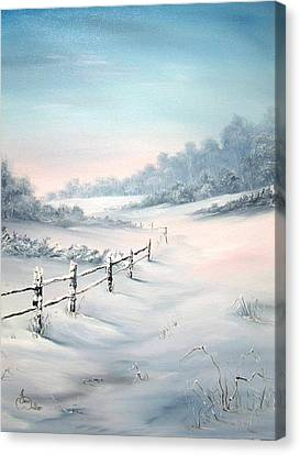 Canvas Print featuring the painting First Snows by Jean Walker