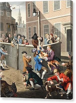 Tom Boy Canvas Print - First Stage Of Cruelty, Illustration by William Hogarth