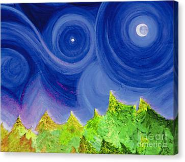 Canvas Print featuring the painting First Star By  Jrr by First Star Art