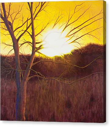 First Sunset Of Spring Canvas Print by Garry McMichael