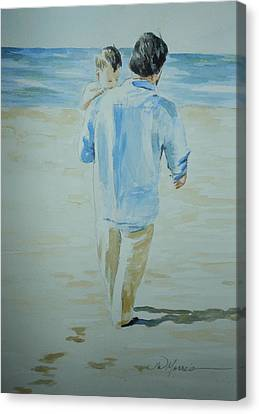 First Time At The Beach Canvas Print