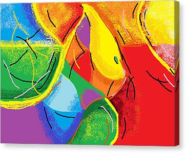 First Time Mom Canvas Print by Anita Dale Livaditis