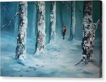 Cannock Chase Canvas Print - First Trodden Snows by Jean Walker