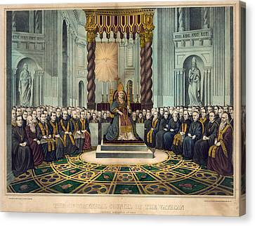 First Vatican Council, 1869 Canvas Print by Granger