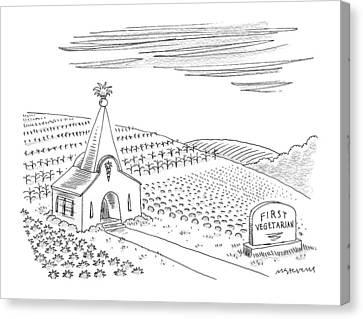 First Vegetarian Church.  A Pineapple Instead Canvas Print
