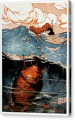 First World War Naval Mine Canvas Print