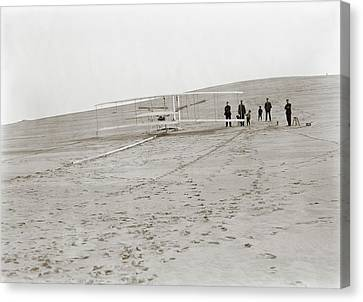 First Wright Flyer Launch Canvas Print by Library Of Congress