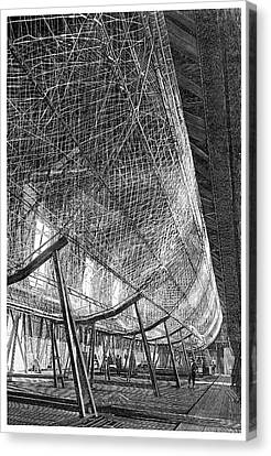 First Zeppelin Under Construction Canvas Print by Science Photo Library