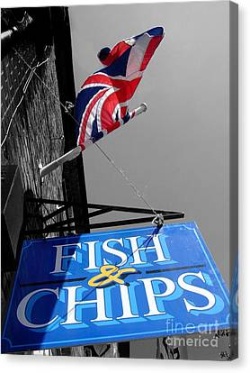 Fish And Chips Canvas Print by Samantha Higgs