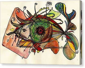 Fish And Eye Abstract Canvas Print